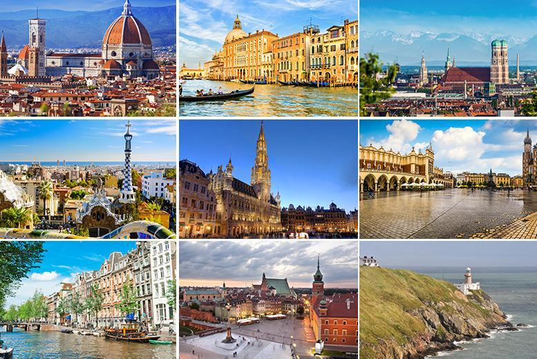 From £89pp (from iFly) for a 2-night stay for 2 in a mystery European city with flights, from £129pp for 3nts or from £179pp for 4nts