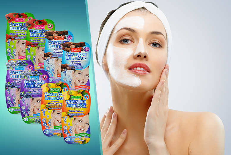 £7 instead of £35 (from Eden Organic Care) for eight 'Oxygen Rich' Bubble face masks - treat your skin & save 80%