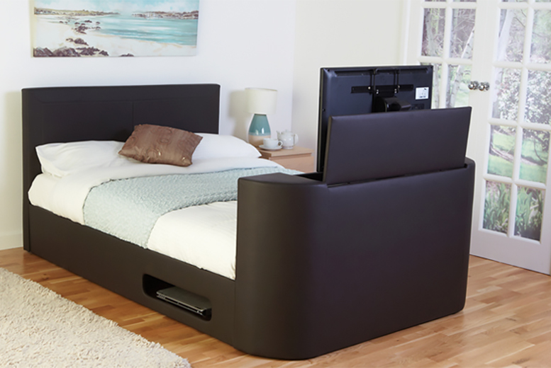 £299 for a double faux leather TV bed, £349 for king size or £399 for super king size from Wowcher Direct - save up to 54%