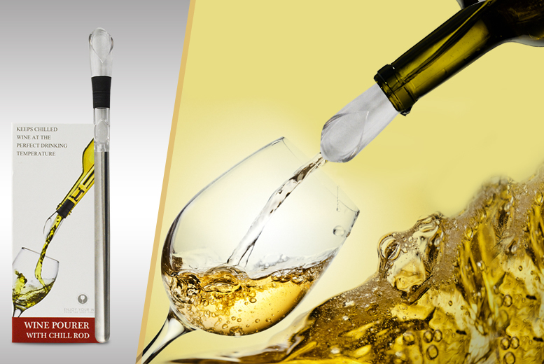 £8.99 instead of £19.99 (from Treasure Chest) for a decanting wine chiller and pourer, £14.99 for two - save up to 55%