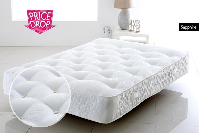 From £129 (from Cheap Mattress) for a small single quartz or sapphire pocket sprung mattress, choose from six sizes to suit your space - save up to 84%