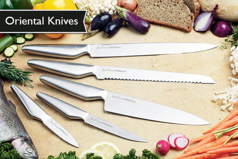 Jean Patrique 5 Piece Oriental Knife Set