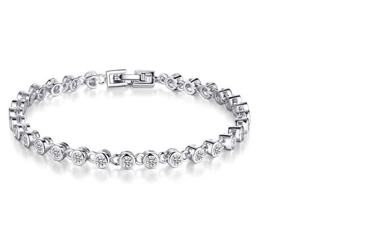 £18 instead of £149 (from Your Ideal Gift) for a rhodium-plated tennis bracelet with simulated sapphires - save a sparkling 88%
