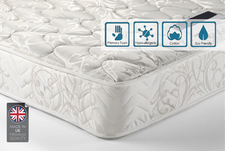 £49 (from Furniture Italia) for a double memory foam spring mattress, with a limited number available for just £39, or £59 for a king mattress - save up to 90%