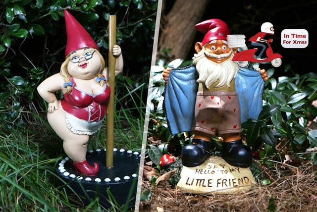 Naughty Garden Gnome 4 Styles Shop Wowcher