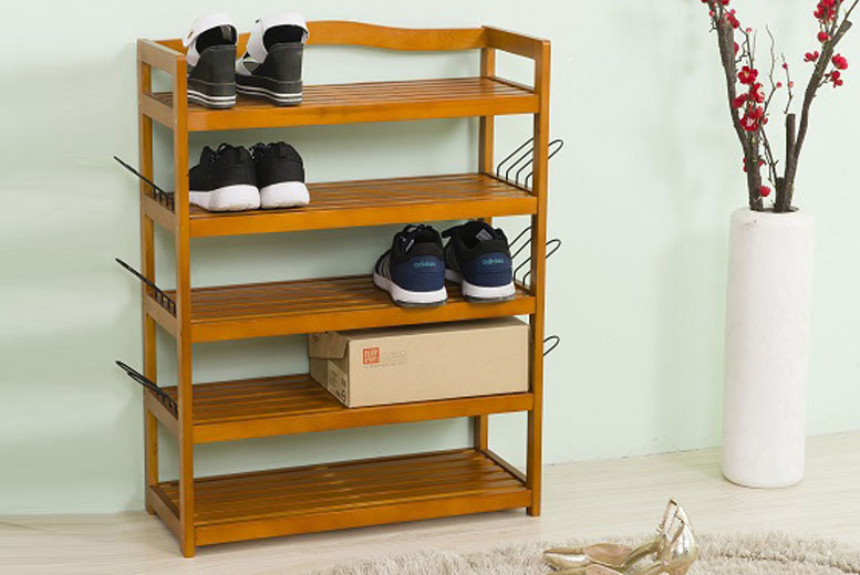 Vivo Mounts 5-Tier Shoe Rack (Wooden)