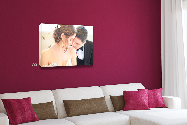 """£9 instead of £54.99 (from Dip Into Sales) for a 16"""" x 24"""" A2 personalised canvas - print your memories and save 84%"""