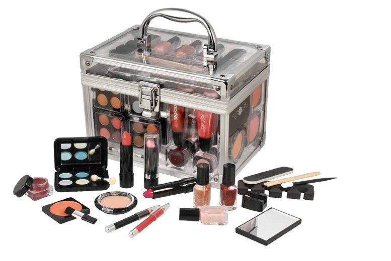 Bargainshop London 40 Piece Cosmetic Vanity Case