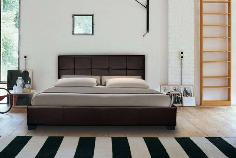 Faux Leather Ottoman Storage Bed (Choice of 2 Colors)