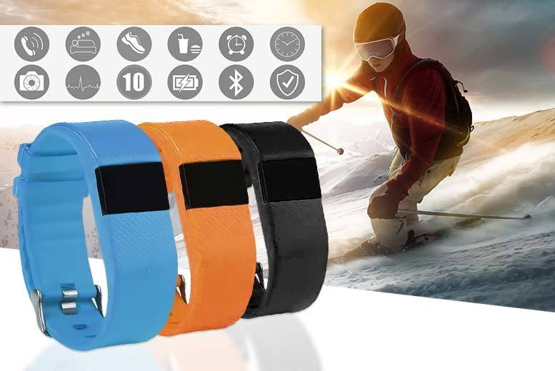 £16.99 instead of £99.99 (from Mobi Trends) for a 12-in-1 Bluetooth fitness tracker and fitness ebook – choose from black, blue or orange and save 83%