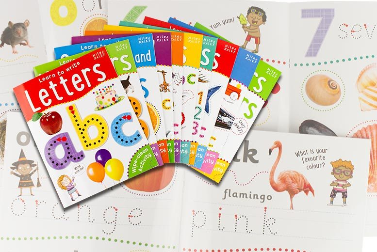 £12.99 instead of £39.90 (from Lowplex) for a set of ten kids' wipe-clean 'learn to write' activity books - save 67%