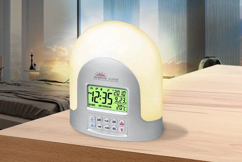 Zoozio LED Sunrise Alarm Clock