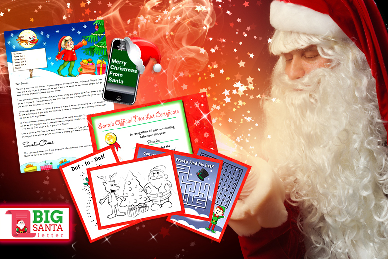 £2.50 instead of £4.99 (from Big Santa Letter) for a personalised Santa letter - save 50% + DELIVERY INCLUDED