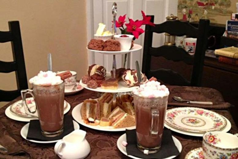 £13 instead of £27.90 for a chocoholics afternoon tea for 2 inc. hot chocolate, scones, sandwiches and more at Cuppas of Rothley - save 53%