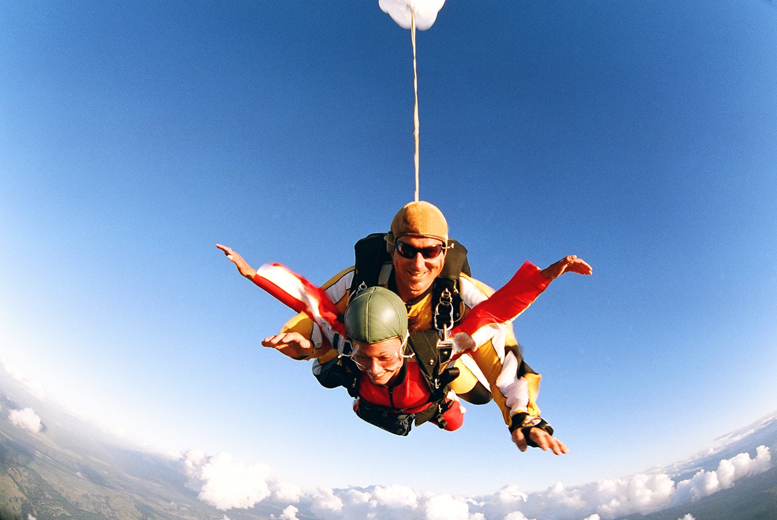 £245 (from Buy a Gift) for a tandem skydive including safety briefing and equipment at your choice of 12 locations