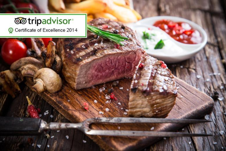 £18 for a 2-course rump steak meal for 2, £20 for sirloin and £22 for rib-eye at The Old Steps Bar, Leeds - save up to 62%
