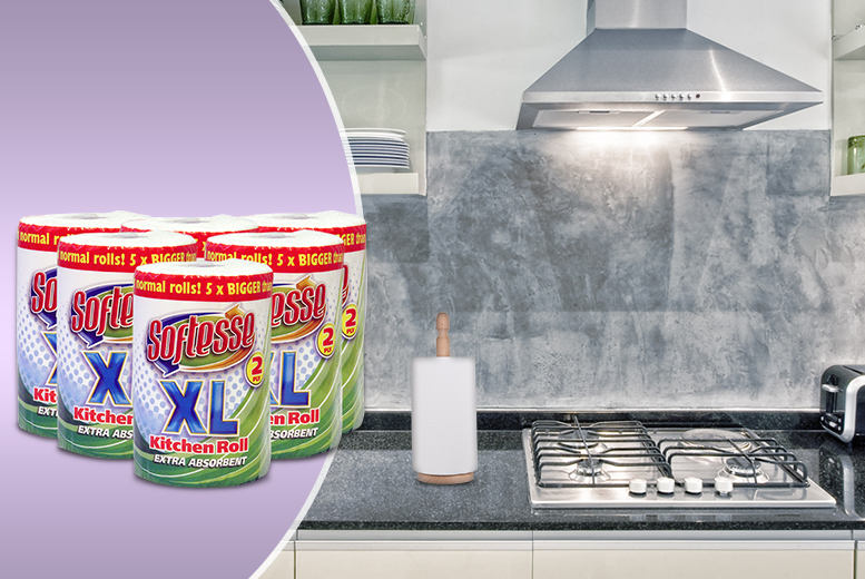 £8.99 instead of £22.97 (from Brand Names GB) for 6 Softesse XL kitchen rolls, or £16.99 for 12 - save up to 61%