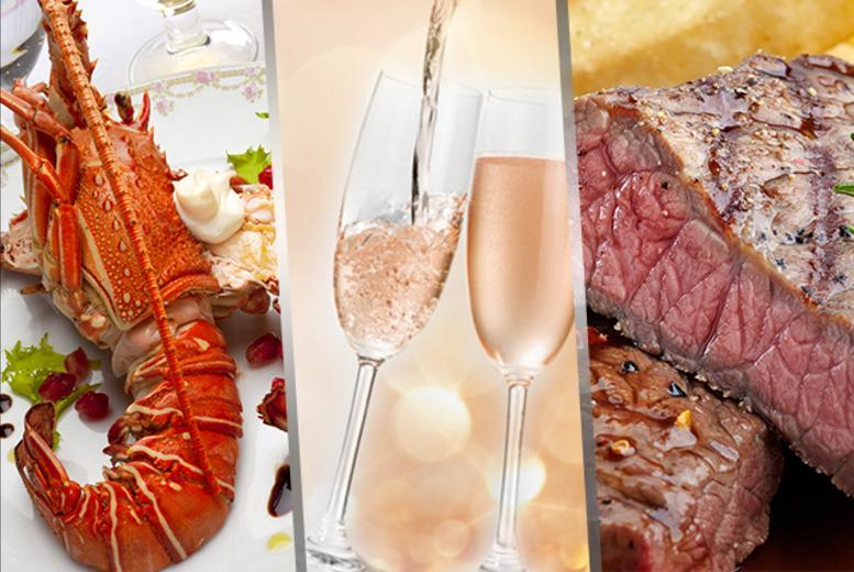 £29 instead of £75.50 for a steak and lobster meal for 2 including a glass of Prosecco each at The Horseshoe Bar and Restaurant, Hall Green - save 62%