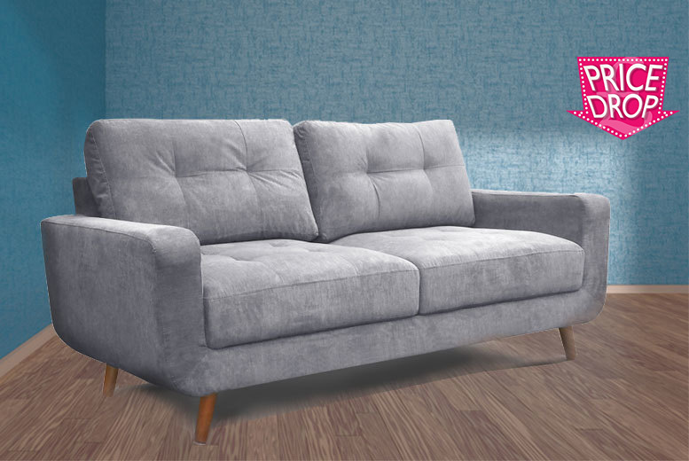 Maymun24 2 or 3 Seater Aurora Fabric Sofa (Soft Grey)