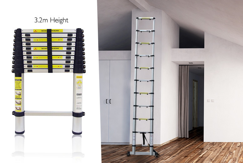 £49 instead of £191.99 (from DUK) for a 3.2m telescopic lightweight ladder with a carry bag - save 74%