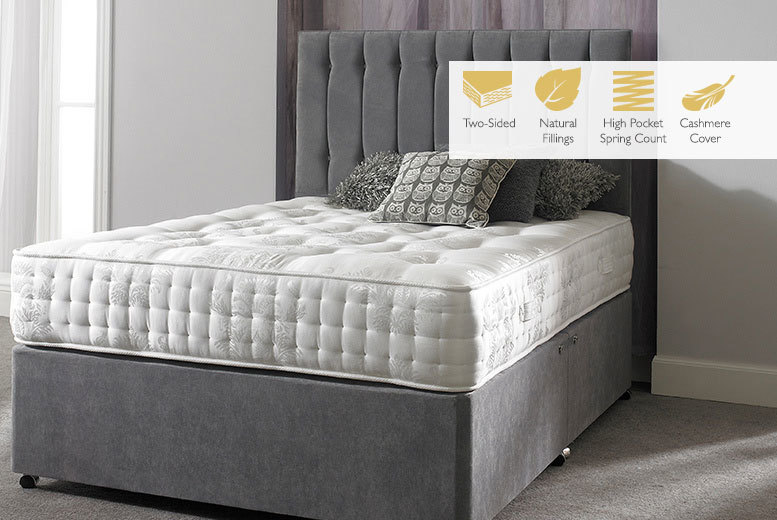 From £199 instead of £799 (from Sleep Express) for a Cashmere 4600 pocket sprung mattress - choose from five sizes and save up to 75%