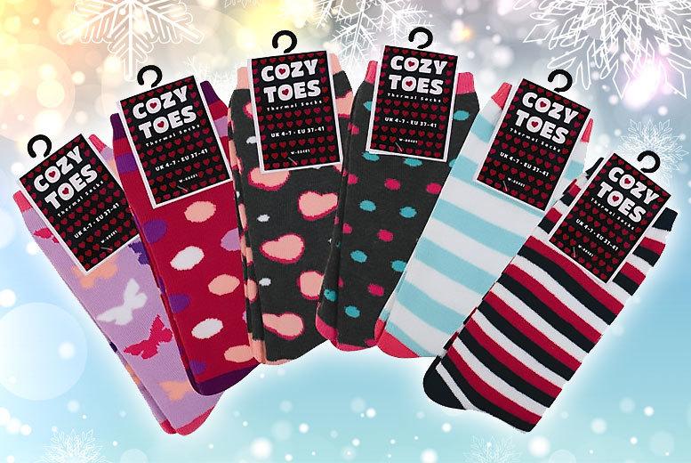 6pk ladies thermal socks
