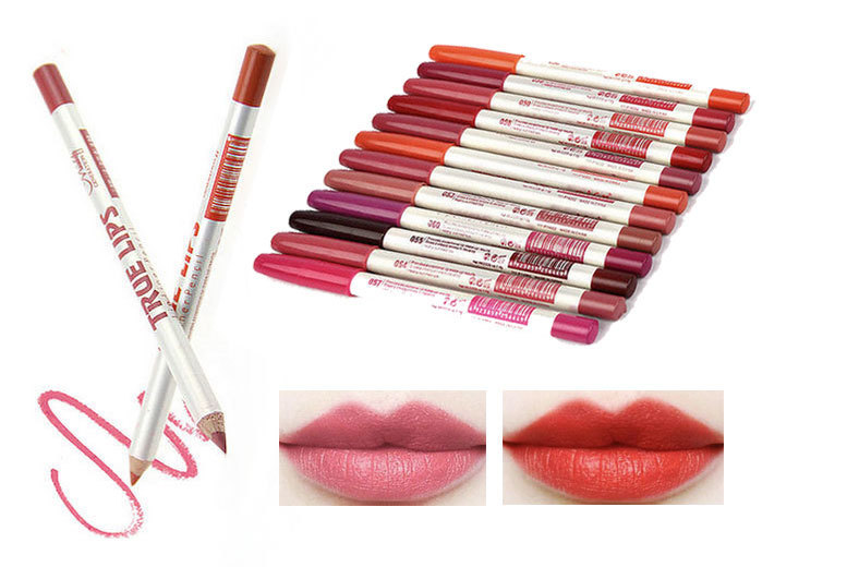 12 true matte lip liners