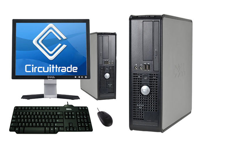 """£159 (from Circuittrade) for a Dell 755 Optiplex PC with a 17"""" flat screen monitor or £189 for a Dell 580 Optiplex PC with 19"""" flat screen monitor"""