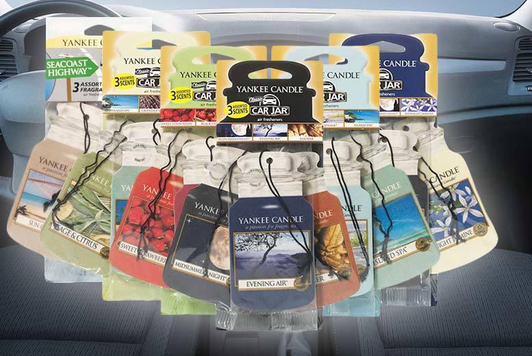 £2.99 instead of £4.99 for three Yankee Candle™ air fresheners, £5.99 for six, or £8.99 for nine from a selection of five sets - save up to 40%
