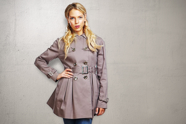 £29.99 instead of £59.99 (from Anastasia Fashion) for a stylish belted trench coat in beige or blue - save 50%