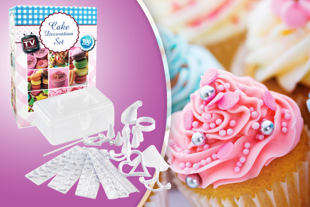 £6.99 instead of £13.99 (from The Sharper Edge) for a 100 piece cake decoration set - save 50%