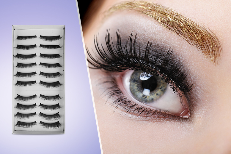 £8 instead of £49.95 (from SalonBoxed) for 10 pairs of reusable false eyelashes - save 84%