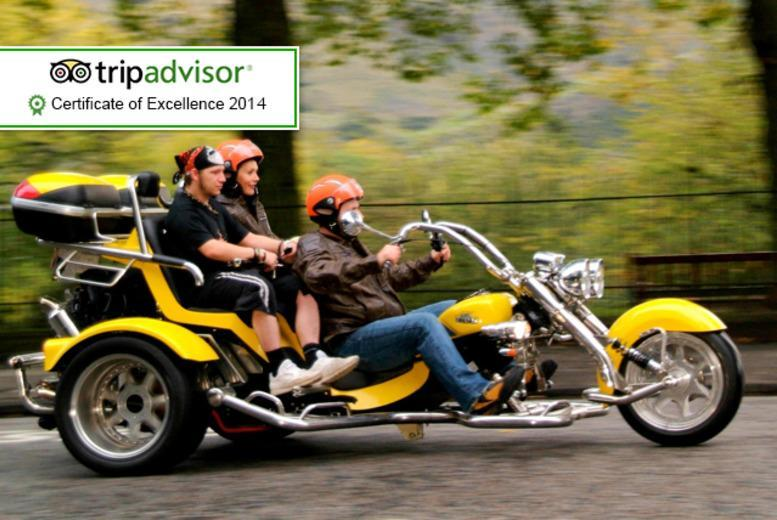 £89 instead of up to £230 for a 1-hour trike tour for 2 including equipment, photos, whisky and shortbread with Trike Tours Scotland - save up to 61%