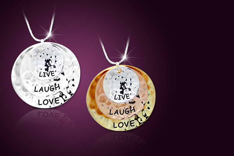 £10 instead of £50 (from Cian Jewels) for a 'Live, Laugh, Love' necklace - save 80%