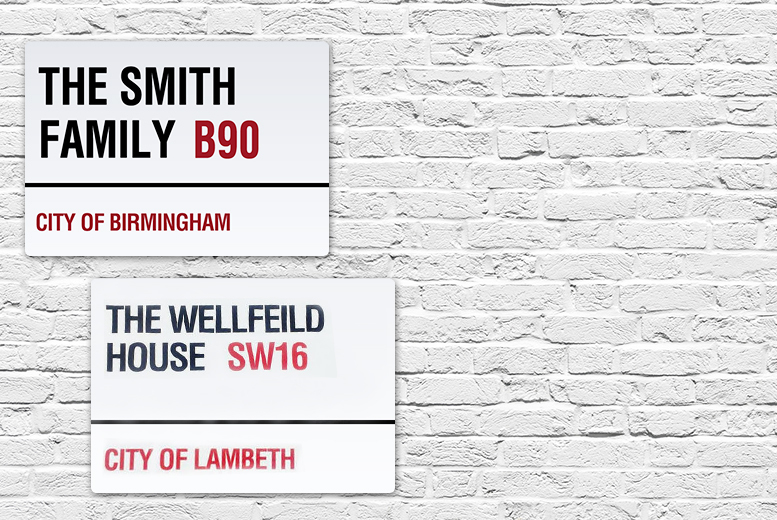 £7.99 instead of £24.95 (from Print My Photo Ltd.) for a personalised London-style metal street sign – save 68%