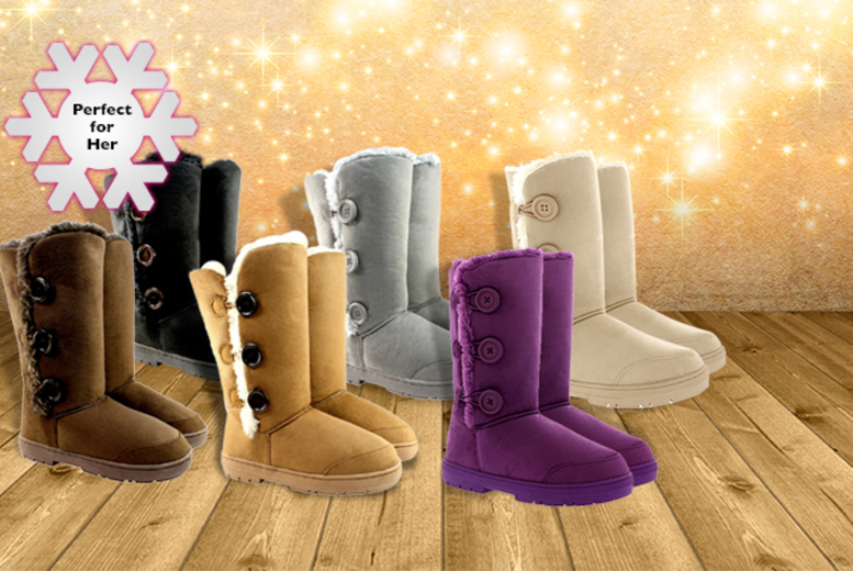 From £15 instead of £26.01 (from Shubox) for faux fur-lined snow boots in a choice of 6 colours - save up to 42%