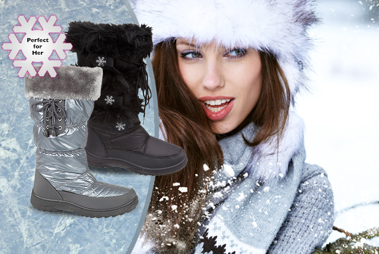 £19 instead of £69 (from Urshu) for a pair of women's snow boots - choose from a range of designs and save 72%