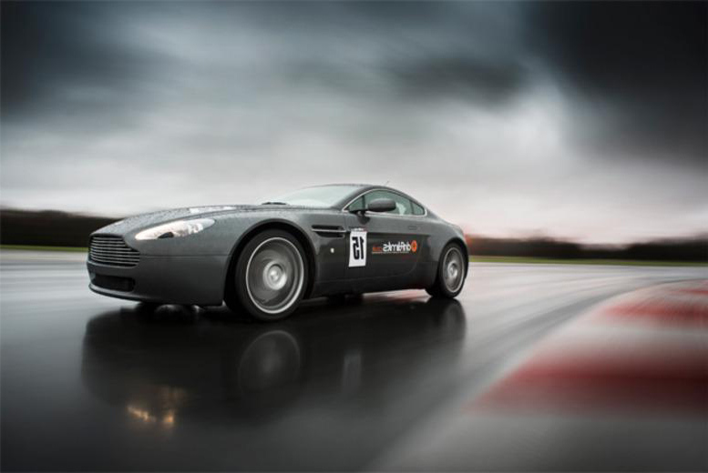 £79 instead of £159 for a 2-hour Aston Martin V8 Vantage supercar experience including 10 laps with Drift Limits - save 50%