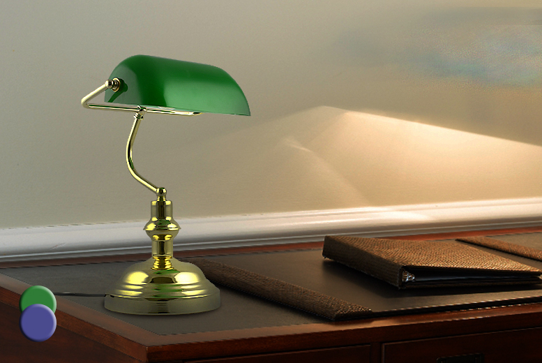 £24.99 instead of £70 (from Kitchen Gadgets) for a vintage style banker's desk lamp - choose from two colours & save 64%