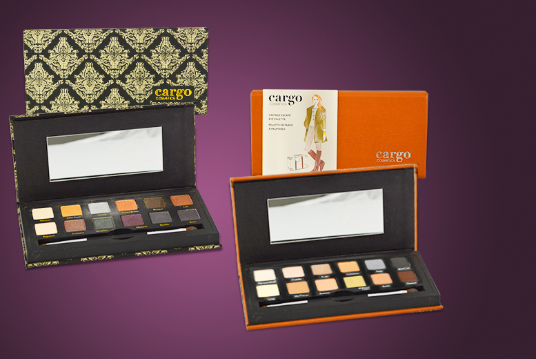 £12.99 instead of £32.01 for your choice of Cargo Cosmetics eyeshadow palettes from Wowcher Direct - save 59%