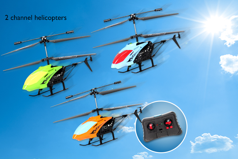 £9.99 instead of £29.99 (from Toyloco.co.uk) for a 2 channel remote control helicopter, or £14.99 for a 3 channel helicopter - save up to 67%