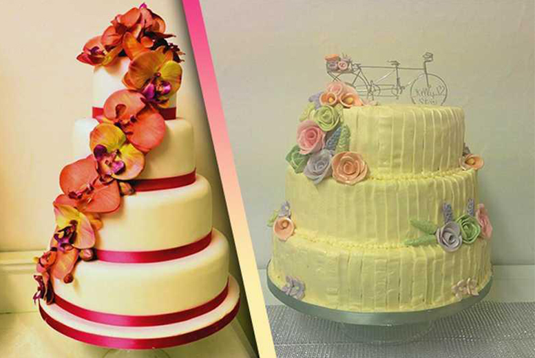 £169 instead of £580 for a 3-tier wedding cake, or £199 for a 4-tier wedding cake from Vanilla Nova, Southport - save up to 71%