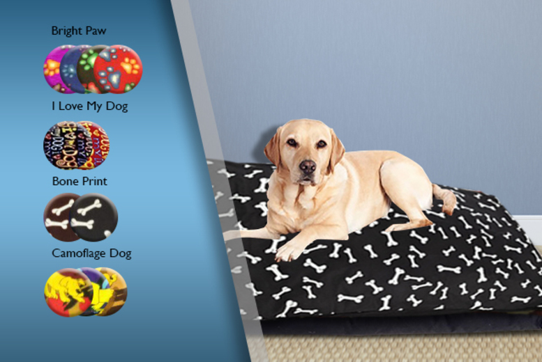 £6.99 instead of £29.99 (from Groundlevel.co.uk) for a large waterproof-backed pet bed - pick from 11 designs and save 77%