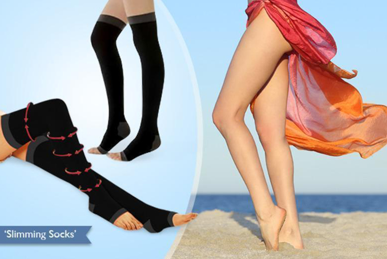 £5 instead of £24.99 (from Eden Personal Care) for a pair of compression socks, or £8 for two pairs - save up to 80%