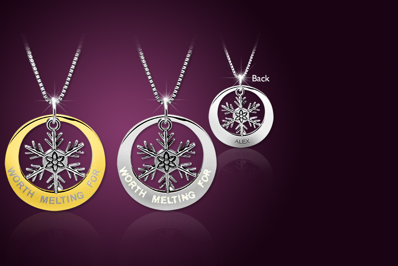 £8 instead of £50 (from Cian Jewels) for a Frozen-inspired snowflake necklace, or £10 for a personalised necklace - save up to 84%