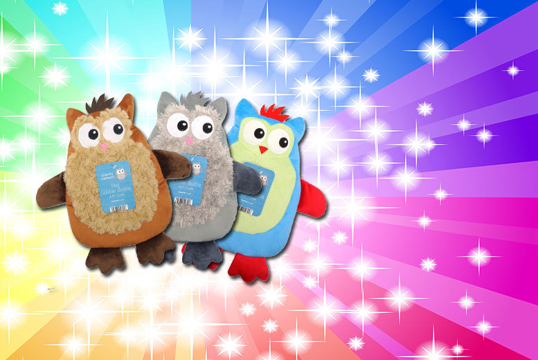 £7 instead of £15 (from Groundlevel) for a novelty hot water bottle in a choice of designs, or get two for £12 - save up to 53%