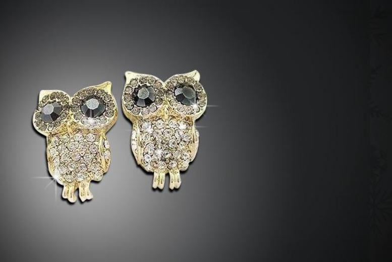£6 instead of £49.99 (from Marcus Emporium) for a pair of owl earrings made with Swarovski Elements - save 88%