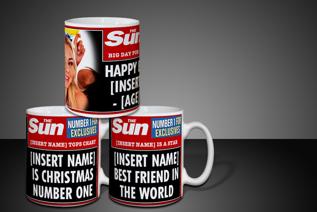 £4 instead of £9.95 (from In The Paper) for a personalised headline mug, or £7.75 for 2, or £15 for 4 - save up to 60%