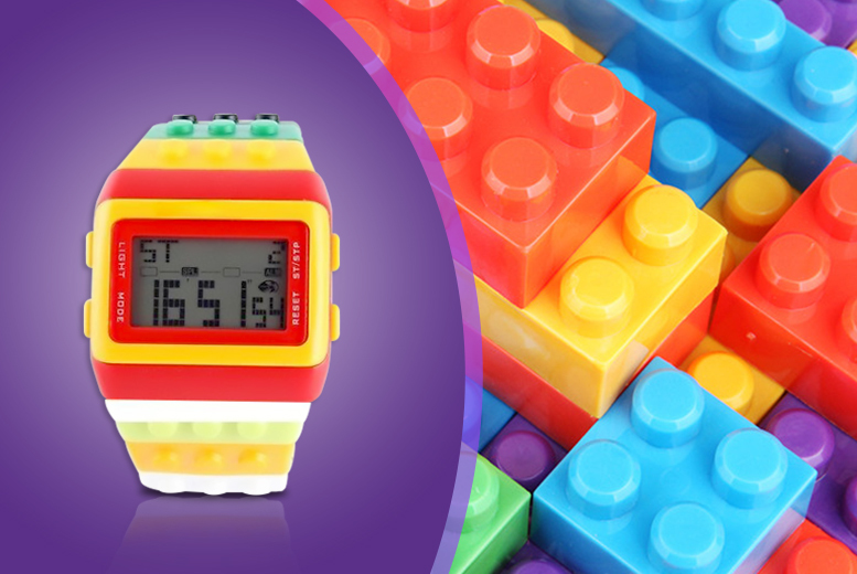 £8.99 instead of £24.99 (from London Exchainstore) for a digital building brick watch - be a big kid & save 64%