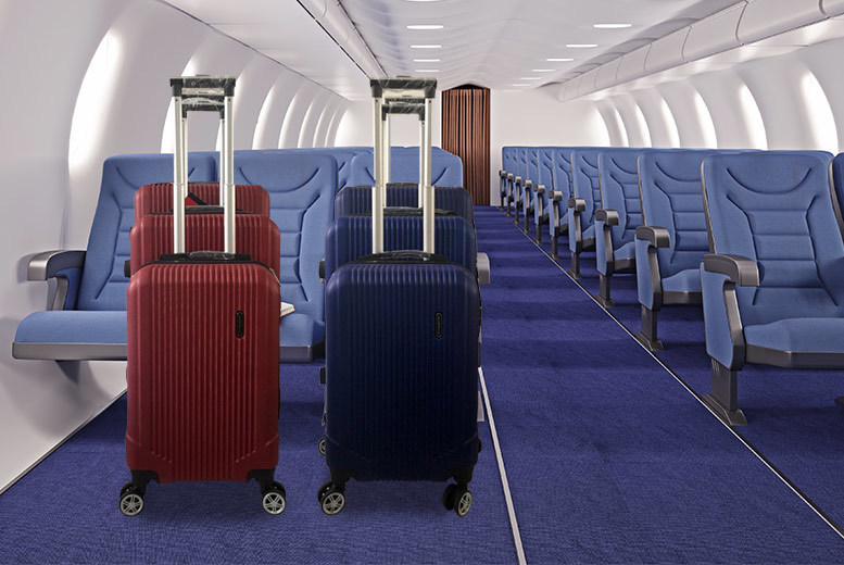 3 Piece Dexter Cabin Luggage Set (Red/Blue)